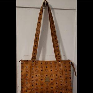 MCM Cognac Vintage Shoppers Bag